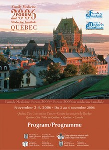 Family Medicine Forum 2006 Program cover