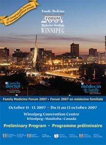Family Medicine Forum 2007 Program cover