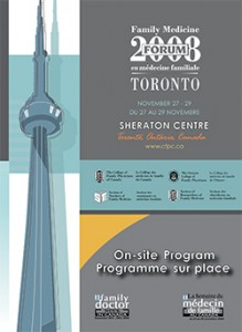 Family Medicine Forum 2008 Program cover