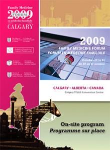 Family Medicine Forum 2009 Program cover
