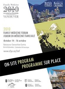 Family Medicine Forum 2010 Program cover