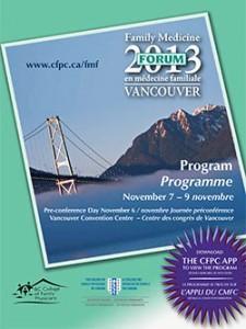 Family Medicine Forum 2013 Program cover