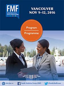 Family Medicine Forum 2016 Program cover