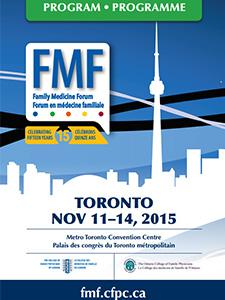 Family Medicine Forum 2015 Program cover