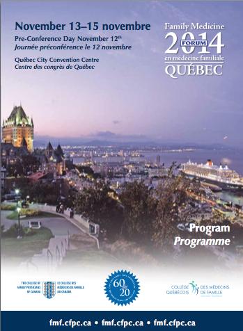Family Medicine Forum 2014 Program cover