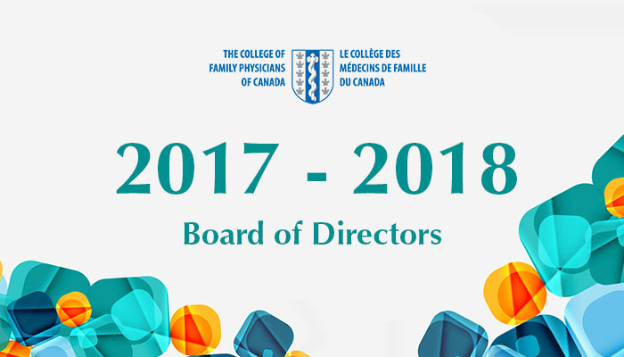 2017-2018 CFPC Board of Directors